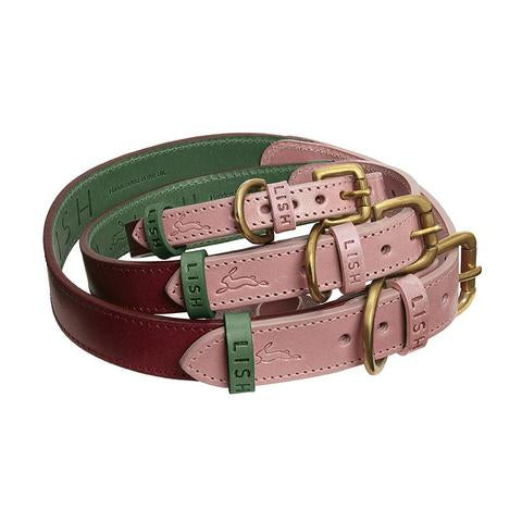 Walter Pink Leather Dog Collar - LISH