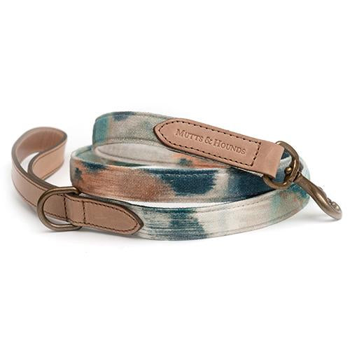 Watercolour & Leather Dog Lead - Mutts & Hounds