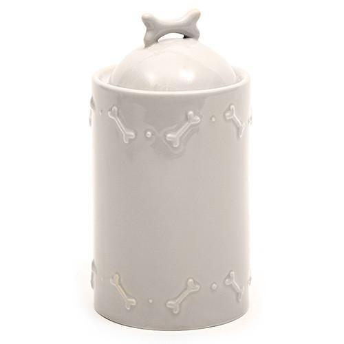 French Grey Ceramic Biscuit Jar - Mutts & Hounds