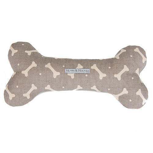 Mushroom Bone Squeaky Bone Dog Toy - Mutts & Hounds