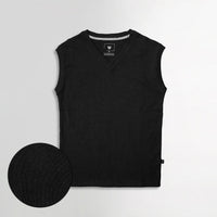 Men Sleeveless Basic Slim Fit V Neck Sweater  (IS-11100)