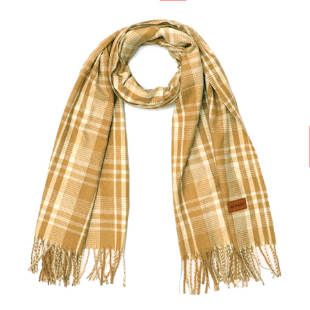 Big Size Checked Unisex woolen Stoles (L70XW28 Inches)