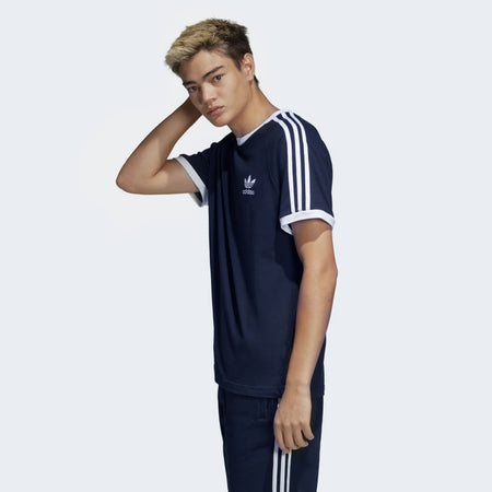 Navy ORIGINALS 3-STRIPES LOGO TEE  (AD-721)