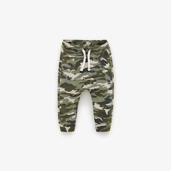 ZR Kids Camo Joggers with Kangaroo Pocket (ZA-1661)