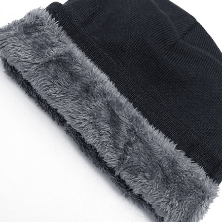 Marlon Fur Lined Textured fitted beanie Cap (CP-2005)