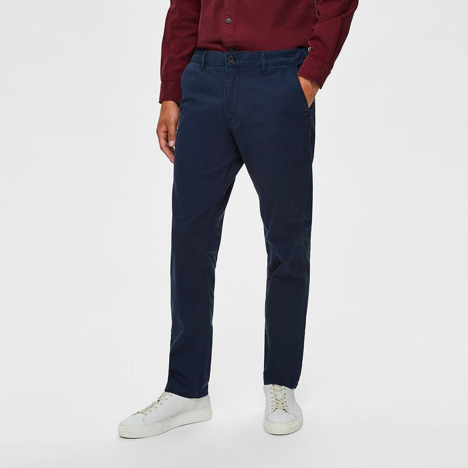 Slected Men regular Slim fit Blue Flex Chino   (SE-10009)