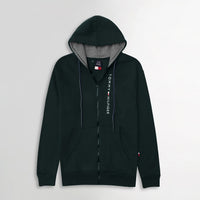 Men Essential  Fleece Graphic Zipper Hoodie (TO-10615)
