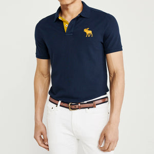 Navy Durable Signature Pique Polo Shirt  (AF-821)