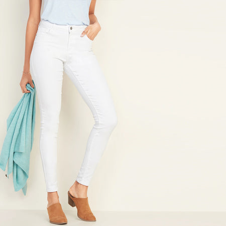 GD Julia  High Waisted White Skinny Jeans (GD-10002)