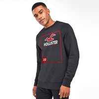 Hlstr Crew neck Signature Graphic Sweatshirt (HO-1294)