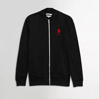 USPA Black Contrast Zipper Funnel Neck Fleece jacket (US-1874)