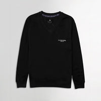 Men Black Signature Print Fleece Sweatshirt (US-11081)