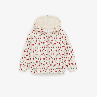 ZR Kids All Over Cherry print Zipper Hoodie (ZA-1252)