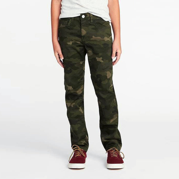 Camo Printed Built-In Flex Stretch Skinny Chino for Boys (OL-11552)