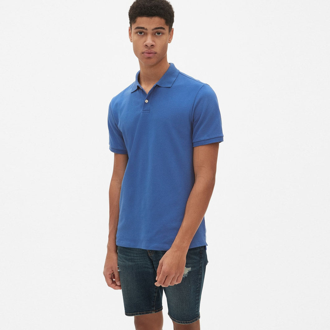 Indigo Performance Basic Regular Fit Pique Polo Shirt (GA-377)
