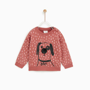 ZR All over Print Goofy Sweat With Pompom Applique (AZ-1239)