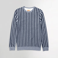 Hlster Men Horizontal Dyed Yarn Striped  Sweatshirt (HO-10242)