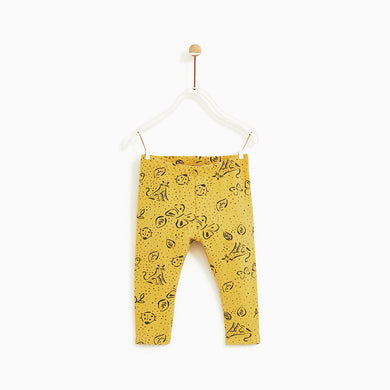 ZR Kids Slim Fit Trousers with Leaves Print  (ZA-1611)