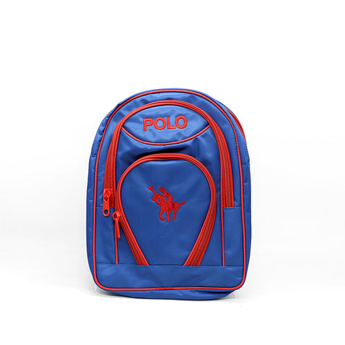 KIDS BLUE POLO SCHOOL BAG (BA-2944)