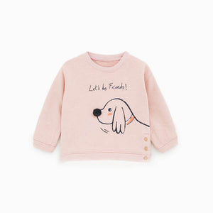 ZR Kids Snoopy Print Sweatshirt with pom pom (ZA-1330)