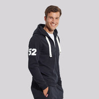 Tom & Rose Navy Embellished Zipper Hoodie (TM-1568)