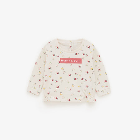 ZR Girls Allover flower Print Sweatshirt (ZA-1793)
