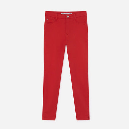 Lft women red 'super skinny' stretch jeans (LF-2118)