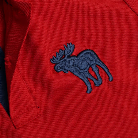 Red Durable Signature Pique Polo Shirt  (AF-819)