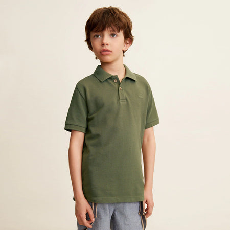 MNGO Boys Cotton polo With lest Chest Tonal Embroidery (MA-736)