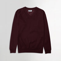 MEN BASIC V-NECK PREMIUM QUALITY FLEECE SWEATSHIRT (BA-11104)