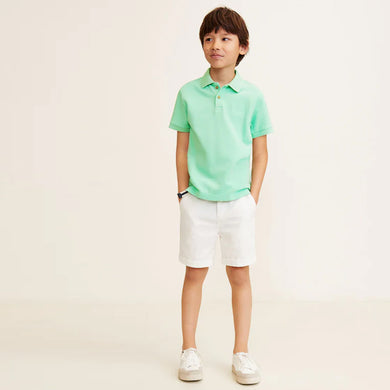 MNGO Boys Cotton polo With lest Chest Tonal Embroidery (MA-739)