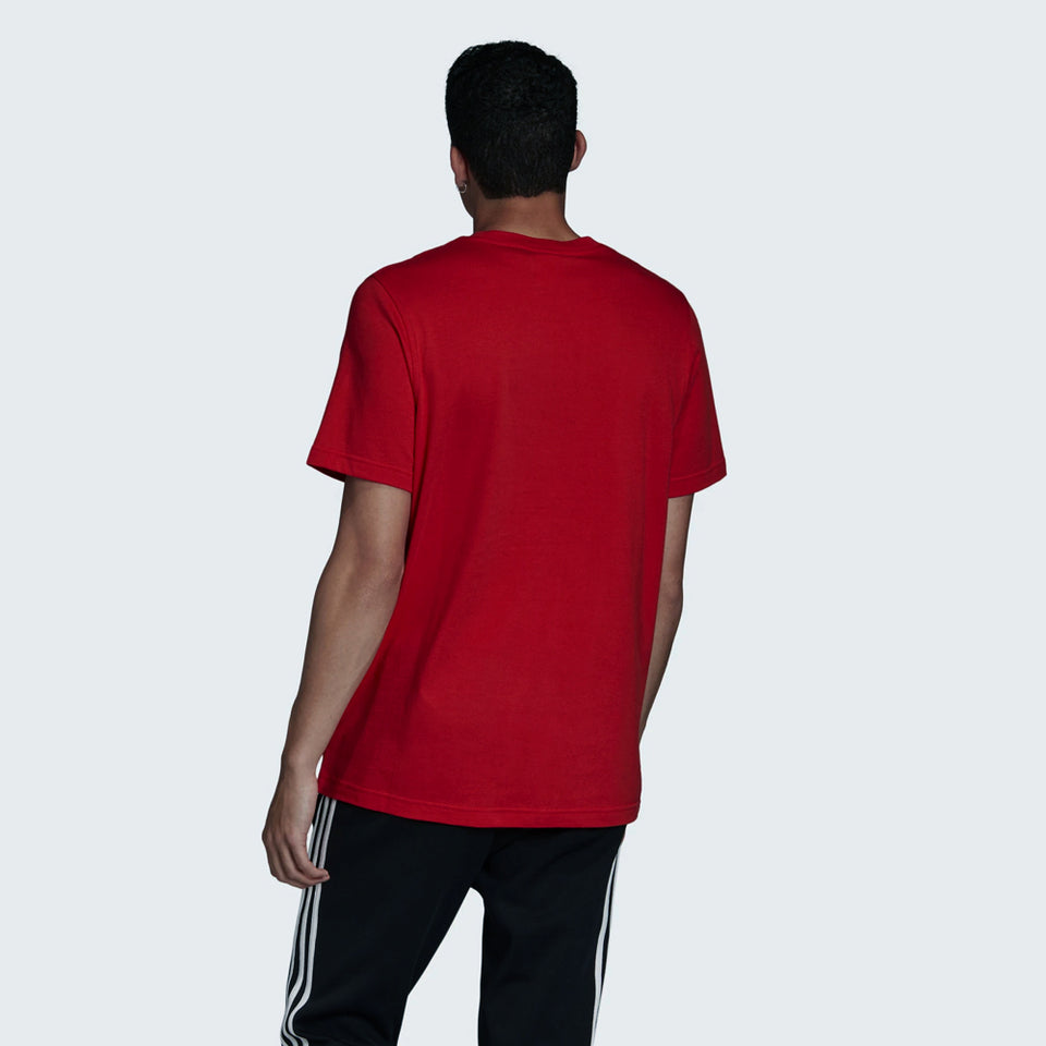 RED COTTON BLEND TREFOIL SS TEE (AD-2532)