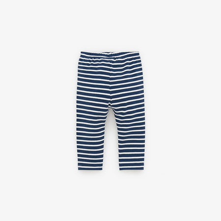 ZR Cotton Stretch Striped Kangaroo Pocket Leggings(ZA-2016)