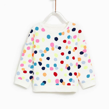 ZR kids All over Color Dot Print Sweatshirt (ZA-1243)