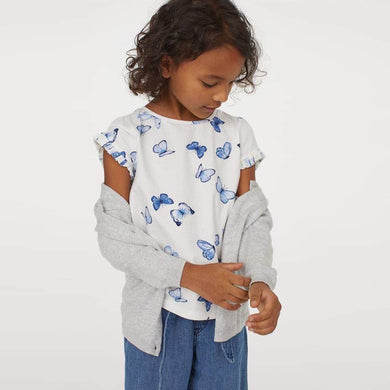 HM Crew Neck all over Butterfly Top (HM-887)