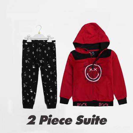 Kids 2 Piece Graphic Printed Jogging Suite (SM-1521)