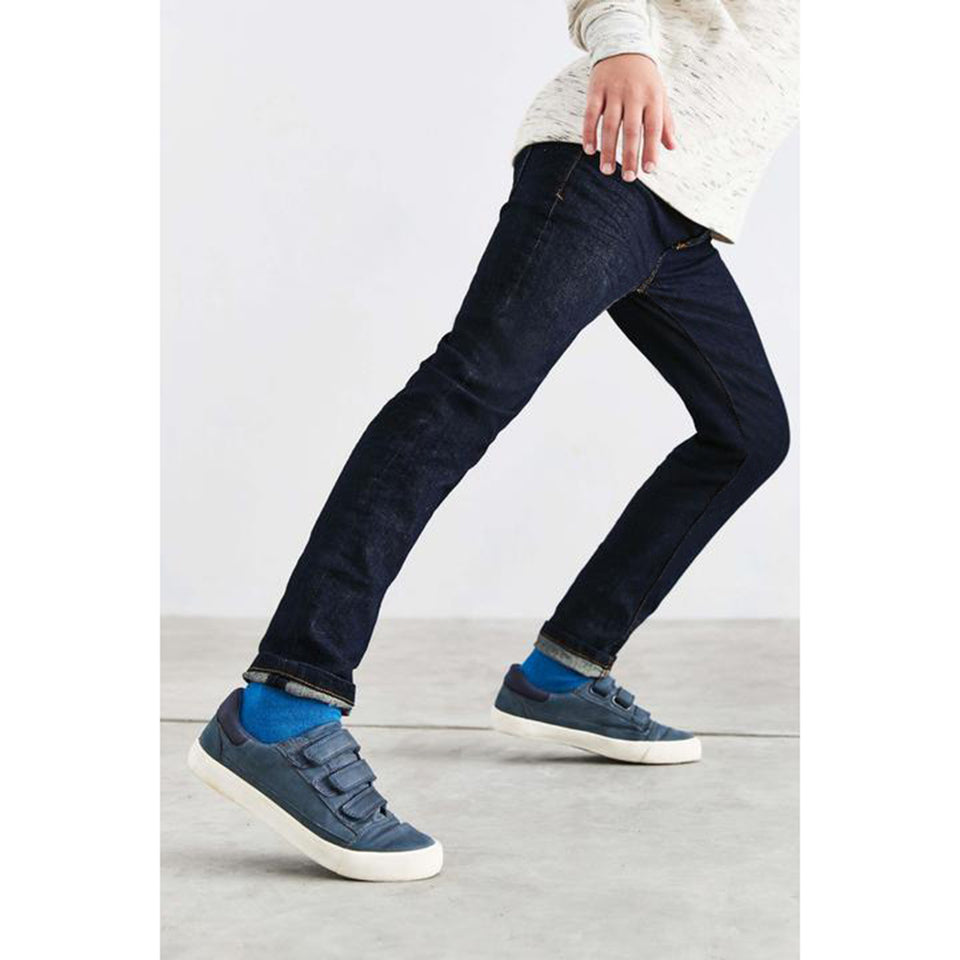 Boys Dark Navy Wash Skinny Fit Stretch Jeans (OU-2339)