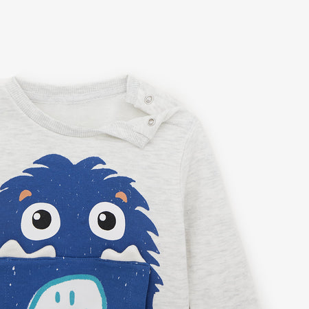 ZR Kids ghost Graphic Sweatshirt (ZA-1758)