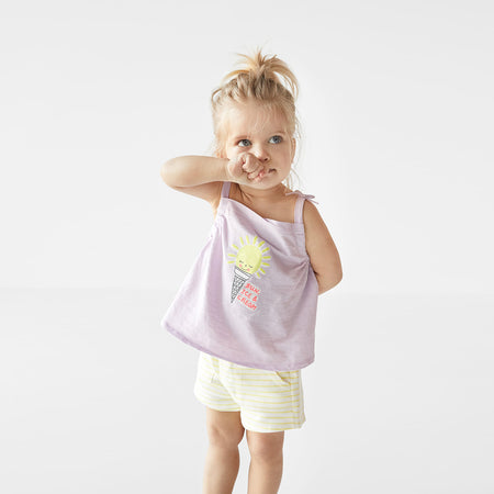 ZR Baby Cotton Rich Dyed Yarn striped shorts (ZA-368)