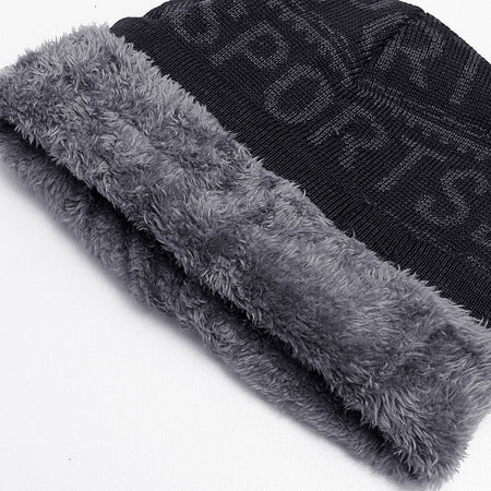 Alton Fur Lined Textured fitted beanie Cap (CP-1933)