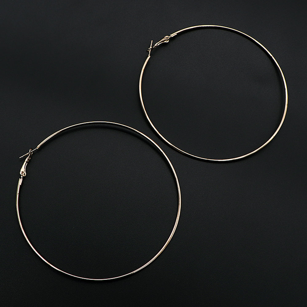 Fashion extra large golden circle hoop earrings  (ER-5448)