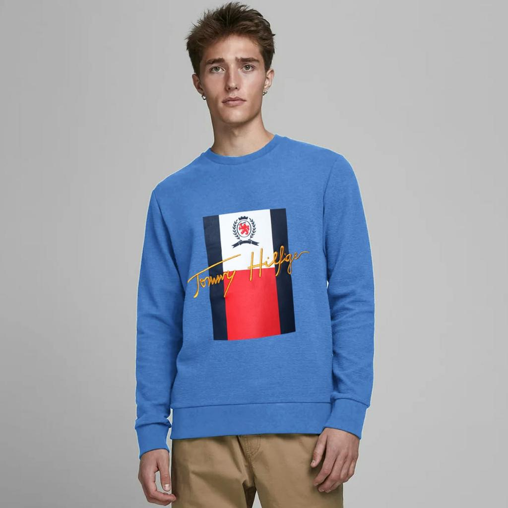 Men Super Soft iconic embellished Fleece Sweatshirt  (US-11135)