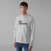 "LFTS Men "" So Good"" Slogan Graphic Fleece Sweatshirt (LF-10316)"