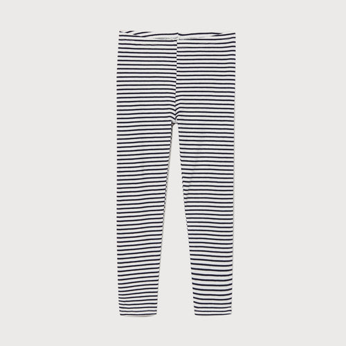 Black & White Striped Imported Cotton Jersey Legging For Girls (HM-11570)