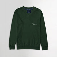 Men Forest Signature Print Fleece Sweatshirt (US-11077)