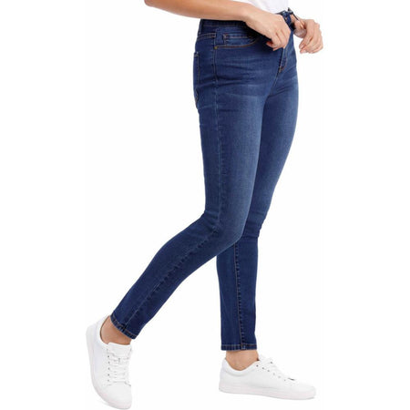 GD Julia  High Waisted Blue Skinny Jeans(GD-10008)