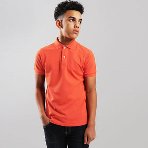 boys neon orange short sleeve polo (GA-156)