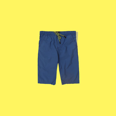 RE Boys Mid Navy Pure weaved cotton poplin Rugby shorts  (RE-5065)