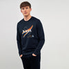 HEAVY FLEECE CREW NECK NASA GRAPHIC PRINT SWEATSHIRT (BR-10335)