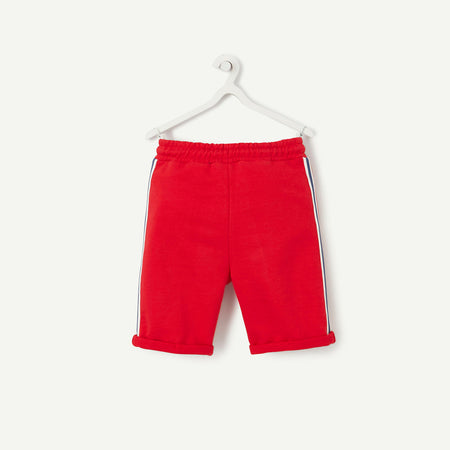 Kids T.A.L Red New York 17 Print Terry Shorts (TP-4734)